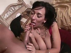 Lovely babe alia janine wants to rub her busty tits