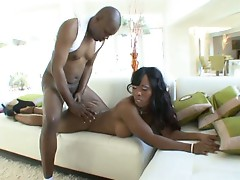 Hard black cock up that black asshole