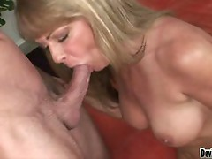Sexy milf with big tits gets her hungry mouth fucked hardcore