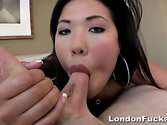 London gets wild anal pov action