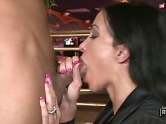Check out this hot slutty babe as she fucks some nice big cock