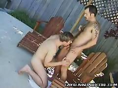 Cock guzzling gay cub, gus avery