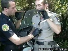 Gay cops wants sucking cock action
