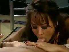 Hot asia carrera sucking before she fucks