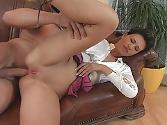 Brunette milf gets holes ravaged