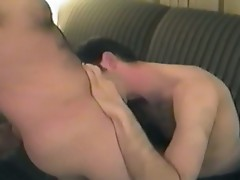 Two young men in the apartment reach orgasm with sexual penetration