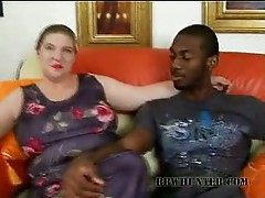 Monster tits bbw brunette slut found big black dick to play with