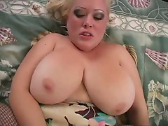 Big tit mama's in her fishnet stockings gets her fat pussy fucked