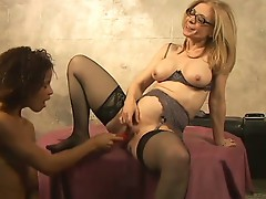 Her first older woman with nina hartley and izabella star
