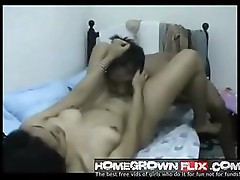 Homemade Asian amateur couple sucking and fucking on webcam