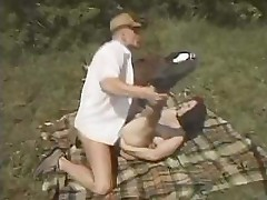 Outdoor sex is always better when sucking and fucking under the sun