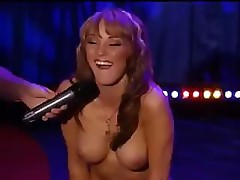 Charlie Laine sits on and fucks a sybian on the Howard Stern show