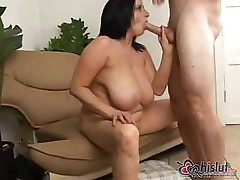 Big busty Kitty Lee is a mature MILF who loves a hard cock