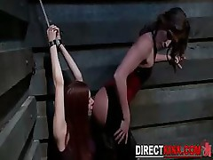 Gorgeous Hoe Helpless BDSM Slave In Basement