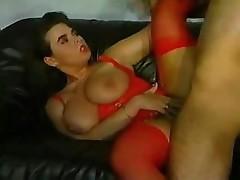 Georgina Lampkin has huge tits and fucks a hard cock with friend