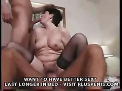 British mature gang bang gets this lady a facial all over her