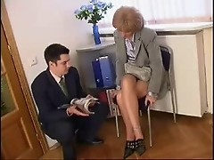 mom meets her son in the waiting room
