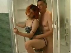 pervert granddaughter watching grand- dad in his bathroom