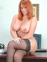 Hot Redhead Kylie fucked at work!