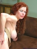 Busty redhead Mrs.Evans fucking!