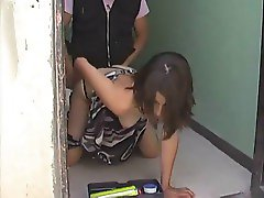 Sexy lomg legged Latina Housewife fucks the repairman