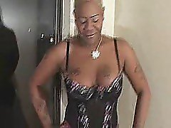 Black Thick with short blond hair