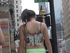 Teen in Neon Green