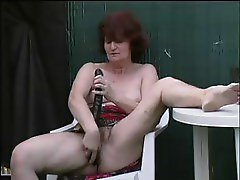 SEXY MOM 57 redhead mature with a& young man