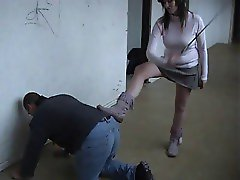 Young Girl Whips and Flat Boots Worship 1
