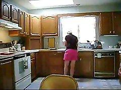 Friend's Wife In Kitchen 2