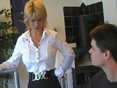 Mommy teachs young boy 2