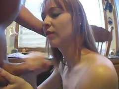 Girl On Sybian Gives Boyfriend Hand Job