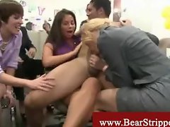 Cfnm dancing bear xxx office stripper party