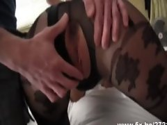 Angelique anal fucked in pantyhose