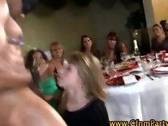 Watch this cfnm blonde get a cumshot