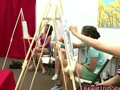 Art class cfnm students watch guys