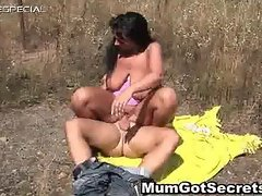 Horny MILF gets fucked hard outdoor free part6