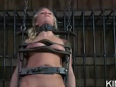 Shocked Bitch in Bondage