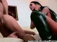 Slut gets dominated by nasty couple