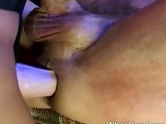 Hot femdom fucking a guy in his ass
