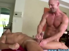 Eager straight dude awaits cumshot