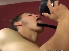 Super sexy femdom torturing a guy