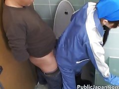 Asian maintenance girl goes in wrong