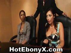 Ebony Threesome Oral And Fucking