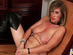 Sexy Hot Milf Playing With Dildo In Both Hole