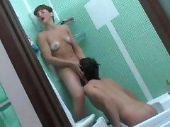 Russian mom in batroom