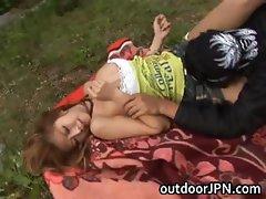 Kane Hotaru Asian model enjoys outdoor part6