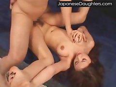 Brutal Japanese teen Ass Violation