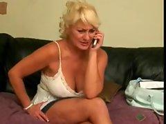fat blonde granny blowjob