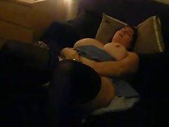 BBW Having live Orgasm at: mateBBW.com # BBW on bed